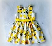 Одежда для девочек - Платье лимoны