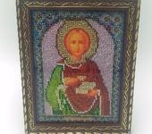 Вышитые картины - Икона Святой Пантелеймон-целитель