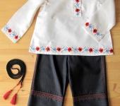 Карнавальные костюмы - Косоворотка с маками и цветущим льном