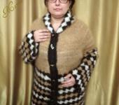 """Верхняя одежда - Куртка из собачьей шерсти""""Весенняя фантазия"""""""