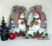 Оригинальные подарки - Мешочек для подарка Снеговик