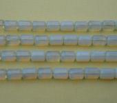 Фурнитура для бижутерии - Опал(цилиндрические бусины).   25шт