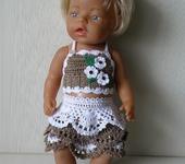 Одежда для кукол - Одежда для куклы Baby Born (Беби Бон ).  Топ и юбочка