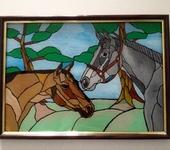 Витражи - Лошадки