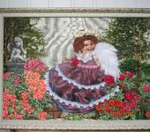 """Вышитые картины - картина """"Ангел в саду"""""""