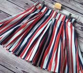 Юбки - Дизайнерская юбка со складками в полосы