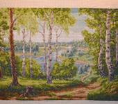 Вышитые картины - Вышитая картина Лесная речка