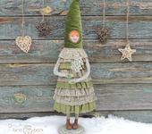 """Сказочные персонажи - Интерьерная, авторская кукла """"Фолк"""" в единственном экземпляре на деревянной подставке"""