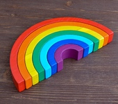 Развивающие игрушки - Пирамидка «Радуга»