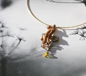 Кулоны, подвески - Кулон «Золотые сумерки весны»