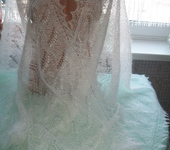 Шали, платки, палантины - Пуховый ажурный палантин