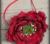 Украшения для волос - Ободок с крупным цветком из фоамирана ПРИМА