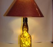Светильники, люстры - Светильник из бутылки с подсветкой.
