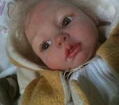 Куклы реборн - кукла Зайчик антикварная одежда молд Галины Гайсиной