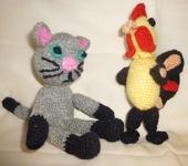 Сказочные персонажи - петушок и кошечка