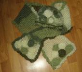 Головные уборы - Комплект (шапочка и шарф)