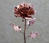 Оригинальные подарки - Кованая роза из меди