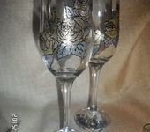 Бокалы, стаканы, рюмки - розы