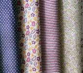 Шитье, вязание - Набор ткани из 7 отрезов