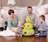 Развивающие игрушки - Елка - пирамидка развивающая мягкая