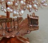 Оригинальные подарки - Жемчужное дерево из меди на кованой подставке №2