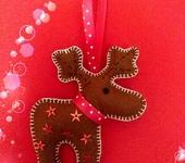 Изготовление кукол, игрушек - Новогодний олень на ёлочку