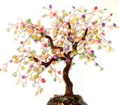 """Оригинальные подарки - Дерево из снежного кварца """" Монпасье"""""""