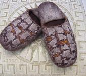 Обувь ручной работы - Валяные тапочки из натуральной шерсти