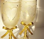 """Бокалы, стаканы, рюмки - Фужеры """"Свадебные"""" (золото)"""