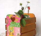 """Предметы для кухни - Ящичек для цветов """"Пэтчворк"""""""
