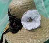Головные уборы - соломенная шляпка и сумка   Шоколад