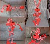 Вязаные куклы - заяц