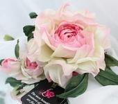 Броши - Брошь роза «Королева Роз». Цветы из ткани