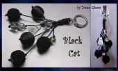 """Брелоки - Брелок на сумку """"Черный кот"""""""