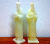 Свечи ручной работы - Николай Чудотворец свеча статуэтка