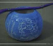 Декоративная посуда - Подарочный набор для питья матэ в калабасе