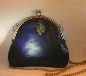 Сумки, рюкзаки - Сумка синяя кожаная (продана, возможен заказ аналога)