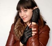 Варежки, митенки, перчатки - Вязаные митенки
