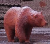 Статуэтки - Кедровый медведь винтажный