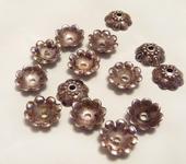 Фурнитура для бижутерии - Шапочки цветы