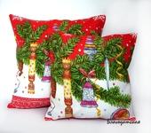 Подушки, одеяла, покрывала - Подушка Новогоднее ретро