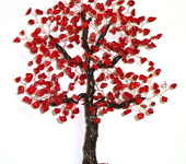 Оригинальные подарки - Дерево счастья из натурального коралла. Счастливая семья)