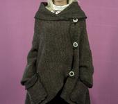 Верхняя одежда - Пальто-пончо из валяного полотна