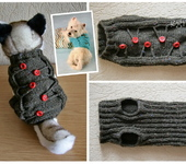 Одежда для собак - Жилет с пуговицами