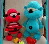 Вязаные куклы - мишка Печенька №3
