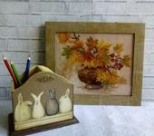 """Вышитые картины - Картина вышитая крестом """" Осенний букет"""""""