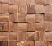 Элементы интерьера - Деревянная мозаичная панель 3d