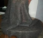 Шитье, вязание - пуховый ажурный палантин