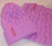 Одежда для девочек - Вязаный комплект: шапочка и снуд.