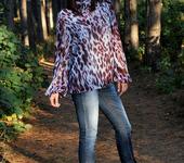 Блузки - Блузка ..Сиреневый Леопард.. шифоновая